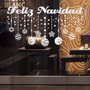 Bondai Vinilos Decorativos Frase Navidad Adorno Vidriera