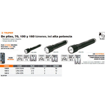 Linterna De Aluminio Con Luz Ajustable 2 Pilas D Negra