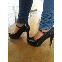 Stilettos Negros Con Guillermina