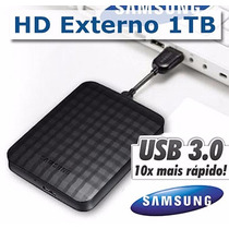 Hd Externo 1tb Samsung Seagate Usb 3.0 M3 Lacrado Garantia
