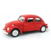Fusca Miniatura 1:32 Com 11cm Vermelho Cl15