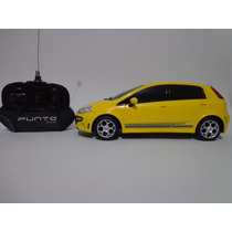 Carro Controle Remoto Fiat Punto T Jet Amarelo 1/18 Cks