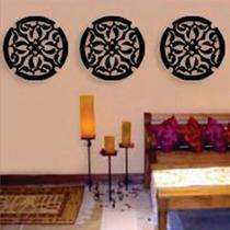 Quadro Mandala Em Escultura De Mdf Vazado