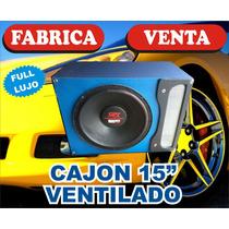 Cajon Ventilado 15 Full Lujo 2 Colores. Y Logo