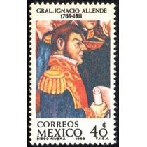 1969 Ignacio Allende Héroe De Independencia D. Rivera Mnh