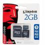 Kingston Memoria Flash Micro Sd 2 Gb , Adaptador Sd Y Minisd