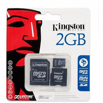 Kingston Memoria Flash Micro Sd 2 Gb , Adaptador Sd Y Minisd