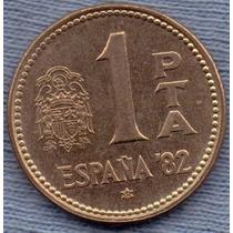 España 1 Peseta 1980 * Mundial De Futbol 1982 *