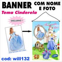 Banner Promocional Impresso Em Lona - Cinderela Will132