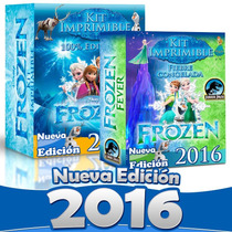Kit Imprimible Fiesta Frozen Completo 100% Editable 2017