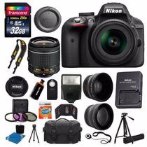 Nikon D3300 + Kit El Mas Completo De Todos!