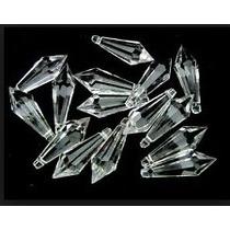 Ponteira Pirulito Cristal Acrílico 30 Mm Lustres - 100pcs