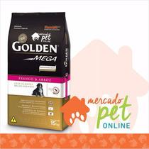 Kit 2 Ração Golden Mega Cães Filhotes Raças Grandes 15kgs