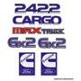 Kit Adesivo Emblema Ford Cargo 2422 Max Truck 6x2 Cummins