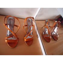 Sandália Via Marte N 35 - Ocre/laranja Nova Linda