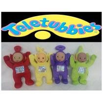 Kit 4 Bonecos Teletubbies De Pelucia Musical