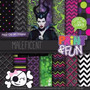Kit Imprimible Pack Fondos Malefica Clipart