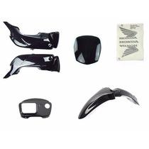 Kit De Carenagem Honda Pop 100 2013 Preta