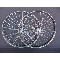 Par De Roda 26 Para Bicicletas Antigas Monark Barra Circular