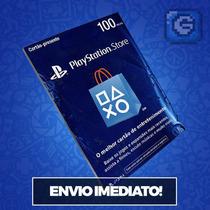 Playstation Network Card Psn Brasil Brasileira R$ 100 Reais
