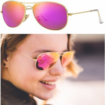 Ray Ban Rb3362 112/4t Cyclamen Cockpit Aviator Clubmaster