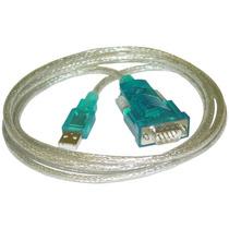 Cable Adaptador Serial Macho A Usb 2.0 Macho Rs232 Db9