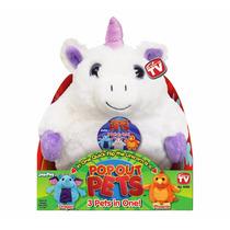 Peluche Pop Out Pets 3 Mascotas En 1 Reversible Unicornio