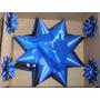 Moño Para15 Años Auto,estrella Bicolor,cotillón,azul Y Negro