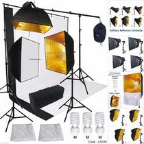 Kit Estudio Fotográfico Softbox Fotografía Boom Stand