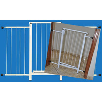Portão Grade Proteção Porta Criança Pet Cães 134 Cm A 139 Cm