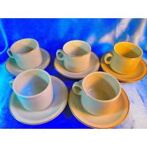 El Arcon Juego De 5 Tazas Con Plato Porcelana Tsuji 25114