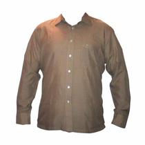 Camisa Pierre Cardin Marrón-tela De Seda_caracas