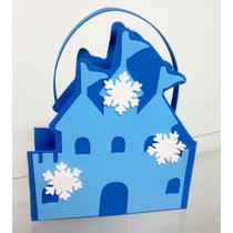 Kit C/10 Sacolinhas Surpresa Da Frozen Em Eva / Lembrancinha