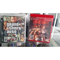 Jogo Tekken 6 E Gta 4 Para Ps3 -