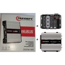 Modulo Taramps Hd 3000 3000w Rms 1 Ohms + Ts 400 X4 + Crx 4