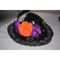 Sombrero D Catrina Para Niña Dia Muertos Halloween Disfraz