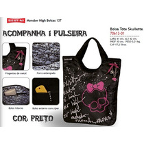 Bolsa C/ Tampa Monster High 13t Preto - 70613 Pto Skullette