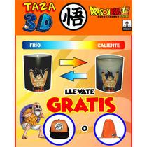 Taza Magica Goku 3d Gratis Gorra O Morral