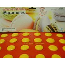 Placa Molde 30 Macarrons Silicona Con Receta