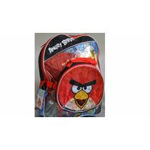 Mochila Angry Birds Lonchera Y Gorrito Lluvia Padrisima!!!