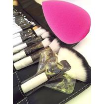 Brochas Maquillaje 36 Piezas Set Profesional Pelo De Cabra