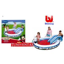 Bestway Pileta C/tobogan Lanza Agua Mickey Mouse Tuni 91014b