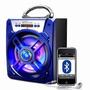 Caixa Som Portátil Amplificada Usb Mp3 Fm Sd Bluetooth Recar