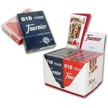 Caja 12 Cartas Poker Naipes Fournier 818 Juegos Negro Rojo