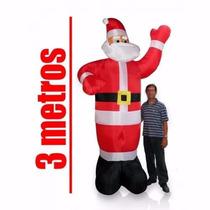 Papai Noel Boneco Inflavel Gigante 3 Metros Natal Enfeite