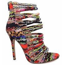 Zapatillas Andrea Zapatos Abiertos De Colores Con Tiras