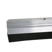 Veda Porta Rodo De Porta Friso Aluminio Com Borracha 80cm