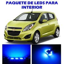 Chevrolet Spark 2013 2015 Paquete De Led Interior Kit Azul