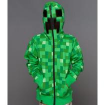 Sudadera Hoodie Creeper Minecraft Original Entrega Inmedia