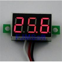 Mini Voltímetro Digital 0-100v Som Bateria Sem Moldura 12v